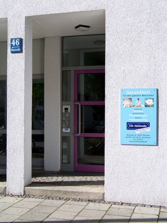 Eingang Maistrasse 46